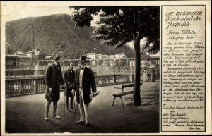 Künstler Ak Bad Ems an der Lahn, König Wilhelm I. besucht den Ort