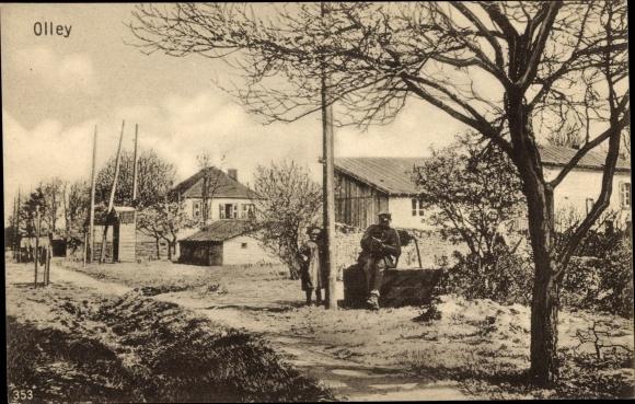 Ak Olley Lothringen Meurthe et Moselle, Straßenpartie
