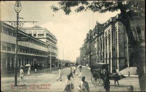Ak Colombo Ceylon Sri Lanka, Verk Street, looking towards the Landing Jetty