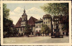Ak Jena in Thüringen, Markt, Rathaus, Kurfürstendenkmal