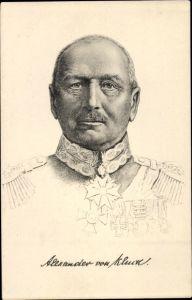 Künstler Ak Generaloberst Alexander von Kluck, Portrait