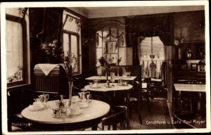 Ak Metzingen in der Schwäbischen Alb, Konditorei Cafe Paul Mayer, Innenansicht