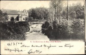Ak Modave Wallonien Lüttich, Flusspartie, Brücke