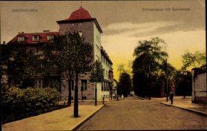 Ak Oberhausen im Ruhrgebiet, Grillostraße mit Sparkasse