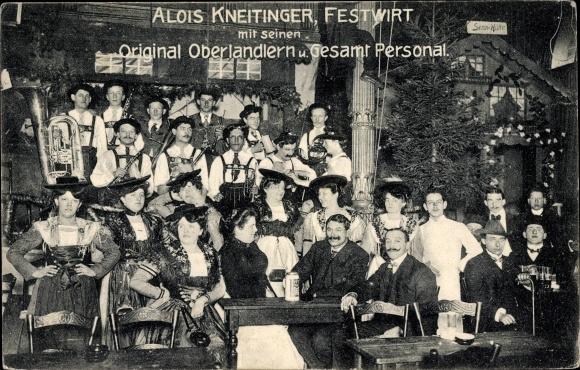 Ak Hamburg, Alois Kneitinger, Original Oberlandler und Gesamt Personal
