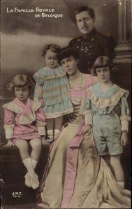 Ak Belgien, La Famille Royale de Belgique, König Albert I. von Belgien, Elisabeth Gabriele in Bayern