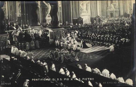 Ak Papst Pius X., Giuseppe Melchiorre Sarto, Pontificare di SS Pio X in S. Pietro