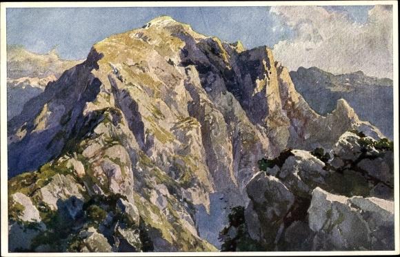 Künstler Ak Compton, Edward Theodore, Göllspitze, Berchtesgadener Alpen