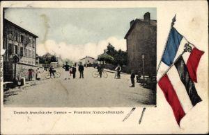 Ak Deutsch französische Grenze, Frontière franco allemande