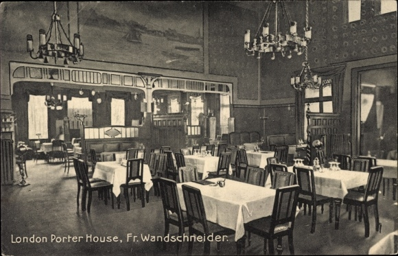 Ak Hamburg St. Pauli, London Porter House, Bes. Fr. Wandschneider, Innenansicht