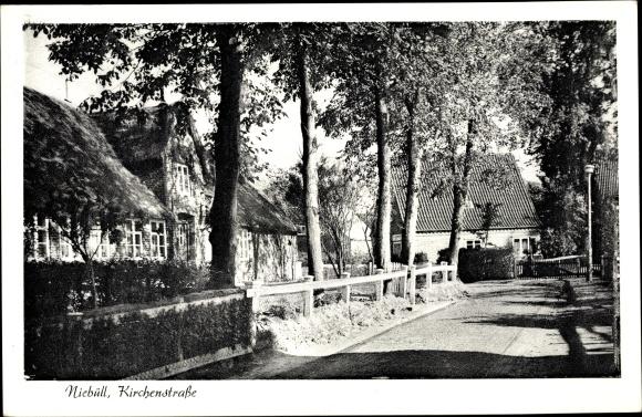 Ak Niebüll in Nordfriesland, Partie in der Kirchenstraße