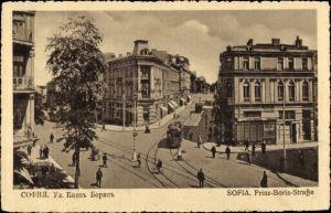 Ak Sofia Bulgarien, Prinz Boris Straße, Straßenpartie