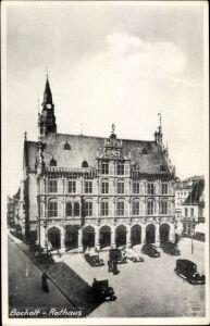 Ak Bocholt im Münsterland, Rathaus, Arkaden, Autos
