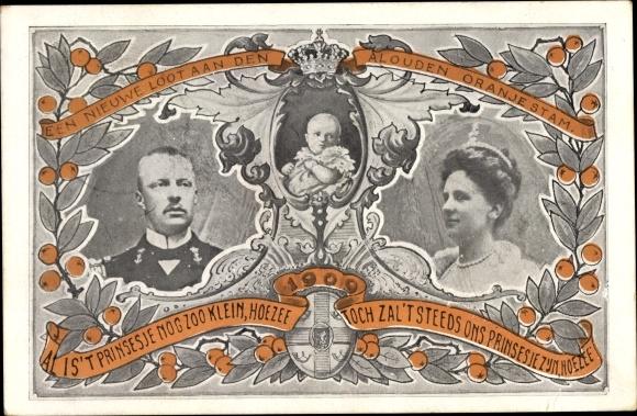 Ak Königin Wilhelmina der Niederlande, Prinz Hendrik der Niederlande, Juliana