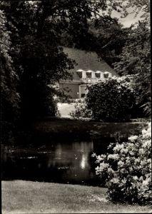 Ak Oberneuland Bremen, Hotel Restaurant Höpkens Ruh, Uferpartie
