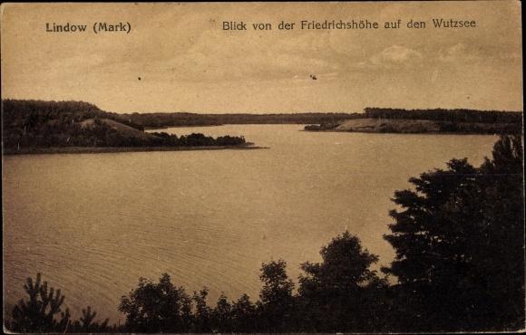 Ak Lindow in der Mark, Blick von der Friedrichshöhe auf den Wutzsee