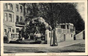 Ak Osnabrück in Niedersachsen, Neuer Brunnen am Herrnteichswall