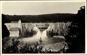Foto Ak Waldeck in Nordhessen, Blick auf den Staudamm