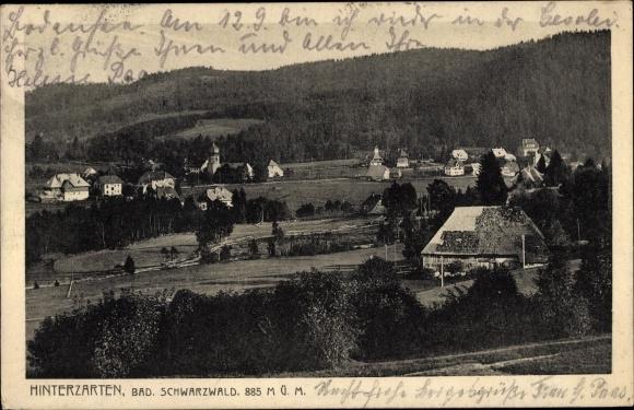 Ak Hinterzarten im Südschwarzwald, Totalansicht vom Ort