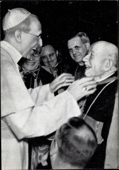 Ak Papst Pius XII. Kardinal Saliege, Archeveque de Toulouse, Erzbischof, Benedictions 1950