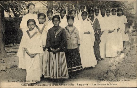 Ak Bangalore Indien, Les Enfants de Marie, Missionnaires de Marie Immaculée