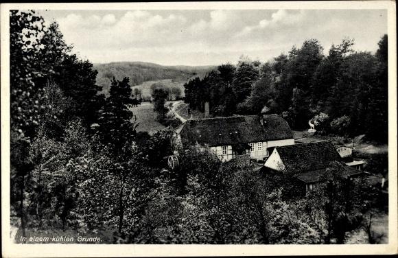 Ak Klosterwalde Templin im Kreis Uckermark, In einem kühlen Grunde, Wassermühle, Inh. Zimmermann