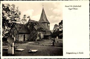 Ak Hassel Niedersachsen, Kriegerehrung, Kirche, Friedhof