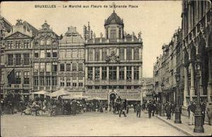 Ak Bruxelles Brüssel, Le Marché aux Fleurs de la Grande Place, Blumenmarkt, Geschäftshäuser