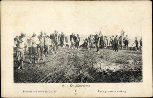 Ak Mazedonien, Prisonniers turcs au travail, Türkische Kriegsgefangene bei der Arbeit