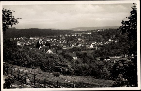 Ak Botnang Stuttgart in Baden Württemberg, Panorama vom Ort