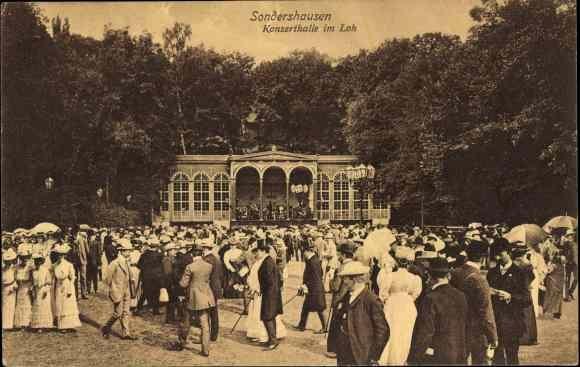 Ak Sondershausen im Kyffhäuserkreis Thüringen, Konzerthalle im Loh