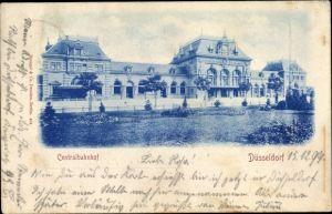 Ak Düsseldorf am Rhein, Hauptbahnhof, Außenansicht