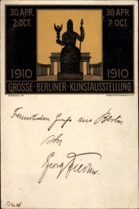 Künstler Litho Kallmorgen, Fr., Große Berliner Kunstausstellung 1910
