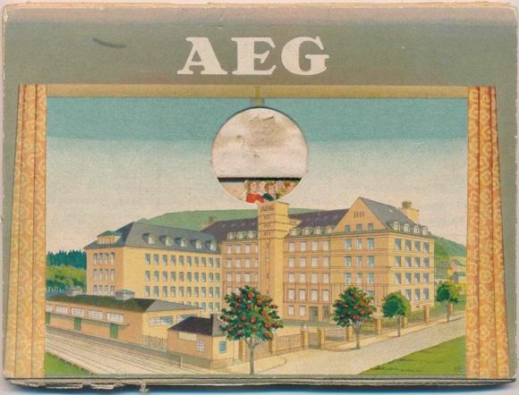 Ziehharmonika Ephemera AEG Fabrikgebäude, Freizeit, Orchester, Kegeln, Fussball
