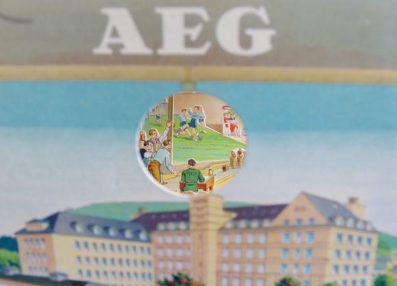 Ziehharmonika Ephemera AEG Fabrikgebäude, Freizeit, Orchester, Kegeln, Fussball 2