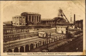 Ak Recklinghausen im Ruhrgebiet, Zeche Recklinghausen II, Kokerei und Wäscherei
