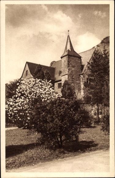 Ak Ober Hammerstein Rheinland Pfalz, Jugendherberge Burghaus Hammerstein