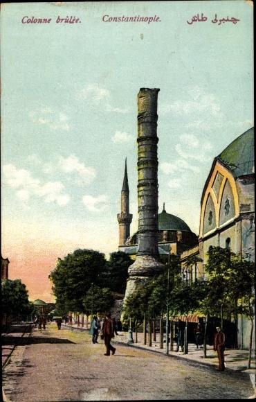 Ak Konstantinopel Istanbul Türkei, Colonne brûlée, Konstantinssäule