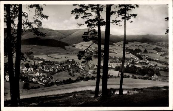 Ak Baiersbronn in Baden Württemberg, Totalansicht vom Ort