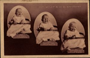Ak Mit Kufeke ernährt, Kleinkind, Babynahrung, Reklame