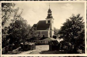 Ak Maria Schnee Niederschlesien, Kirche, Außenansicht