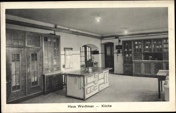 Ak Metternich Koblenz Haus Weidtman Kuche Herd Wasserkocher