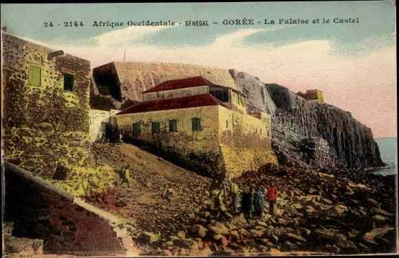 Ak Gorée Senegal, La Falaise et le Castel