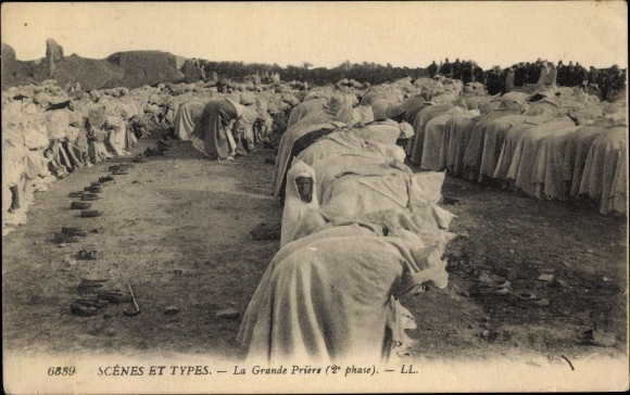 Ak Scenes et Types, la Grande Priere, 2e Phase, Muslime beim Gebet