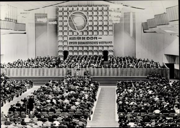 Ak VII. Parteitag der SED 1967, Alles für die DDR, unser sozialistisches Vaterland