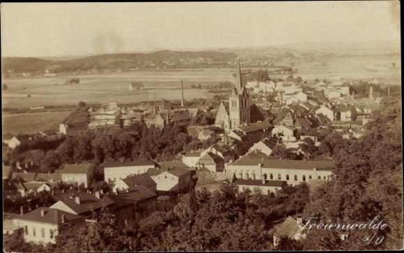 Ak Bad Freienwalde an der Oder, Panorama vom Ort