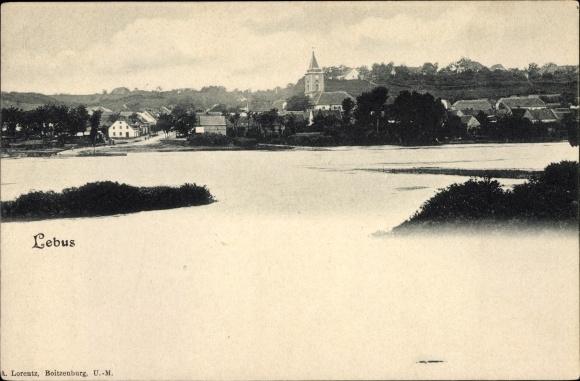 Ak Lebus im Kreis Märkisch Oderland, Panorama vom Ort