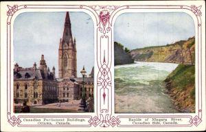 Ak Ottawa Ontario Kanada, Parliament Buildings, Niagara River