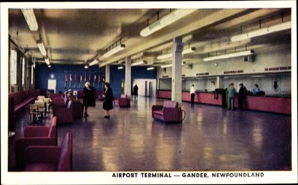 Ak Gander Neufundland und Labrador Kanada, Airport Terminal