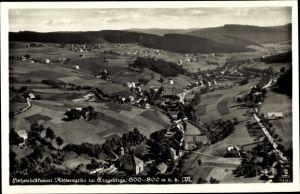 Ak Rittersgrün Breitenbrunn im Erzgebirge, Totalansicht vom Ort, Klinke 10743